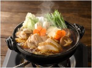三和の純鶏名古屋コーチン鶏すき鍋スープ調理イメージ
