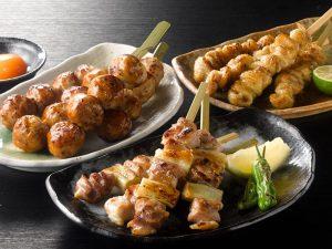 鶏三和の焼き鳥串(ねぎま・皮・つくね)