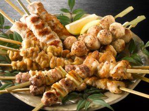 鶏三和の純鶏名古屋コーチン焼鳥5種盛り合わせ