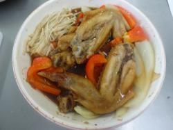 作り方④ - コラーゲン手羽先の簡単レンジ醤油煮込み