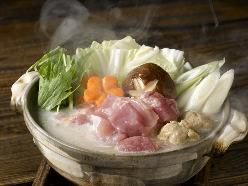 三和の純鶏名古屋コーチン鶏白湯鍋