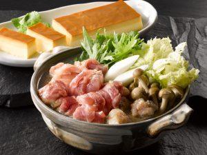 三和の純鶏名古屋コーチンコラーゲン水炊き鍋・ぷりんセット