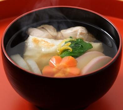 名古屋コーチン雑煮(調理イメージ)