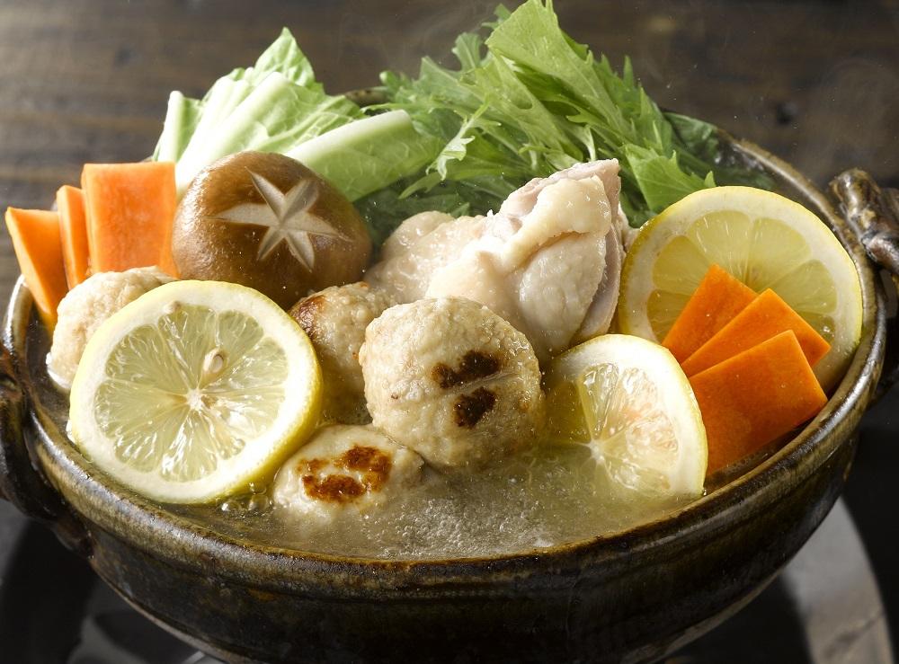 三和の純鶏名古屋コーチン鶏だし塩レモン鍋スープ(調理イメージ)