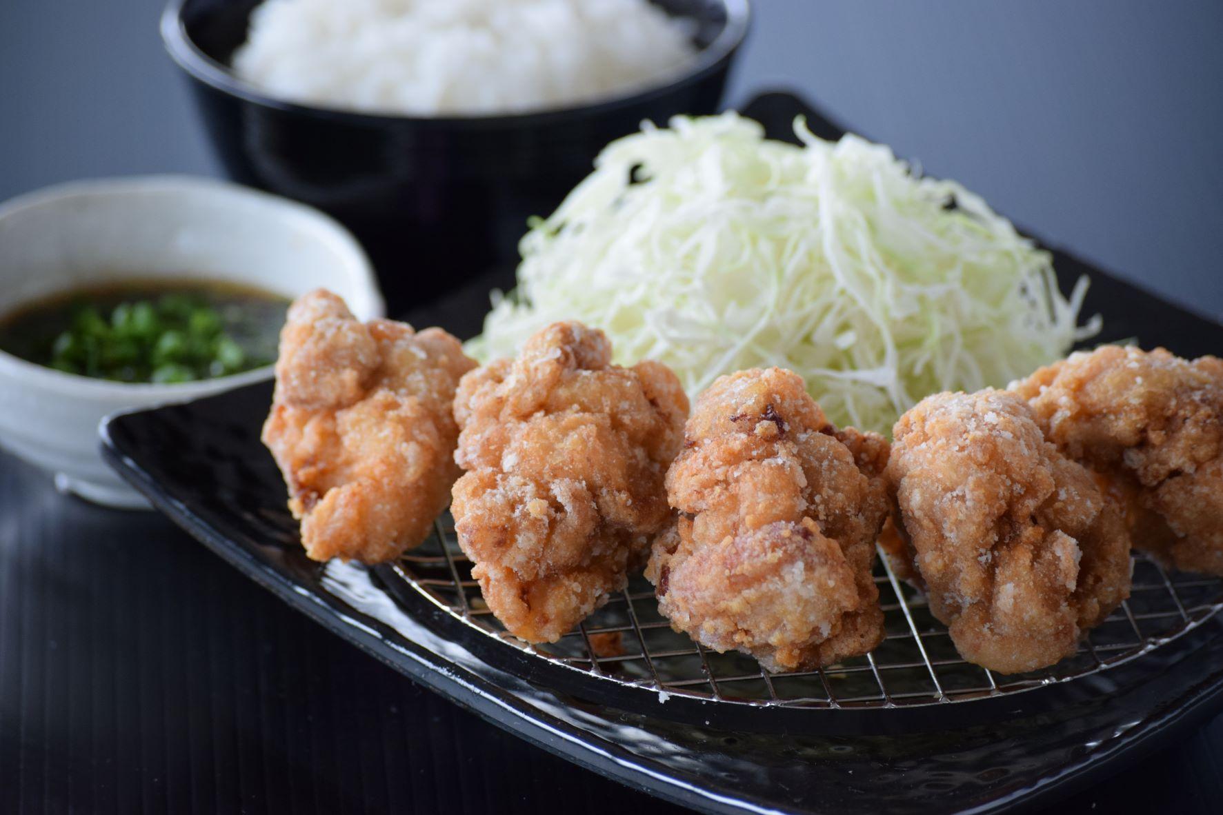 【ジューシーもも唐揚】油淋鶏定食(5個)
